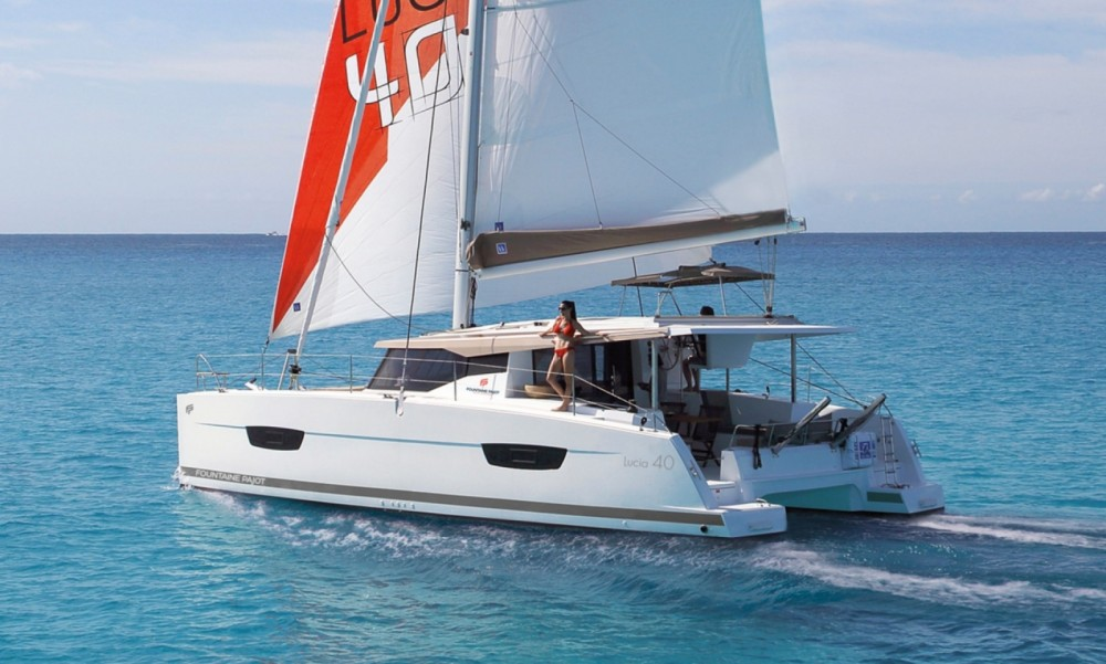 Boat rental Tortola cheap Fountaine Pajot Lucia 40