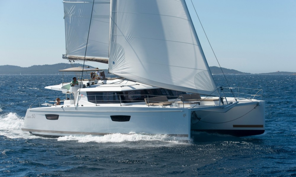 Boat rental Central Greece cheap Fountaine Pajot Saba 50 - 6 + 2 cab.