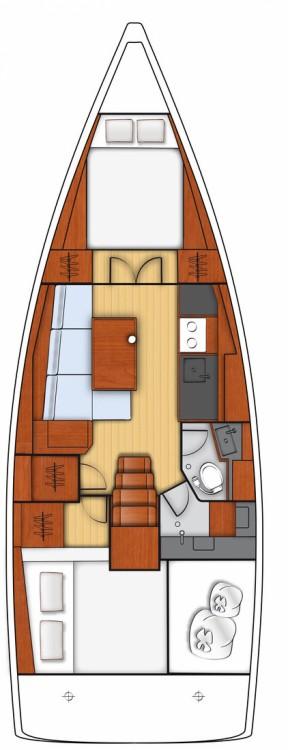Rental yacht Göcek - Bénéteau Oceanis 38.1 - 2 cab. on SamBoat