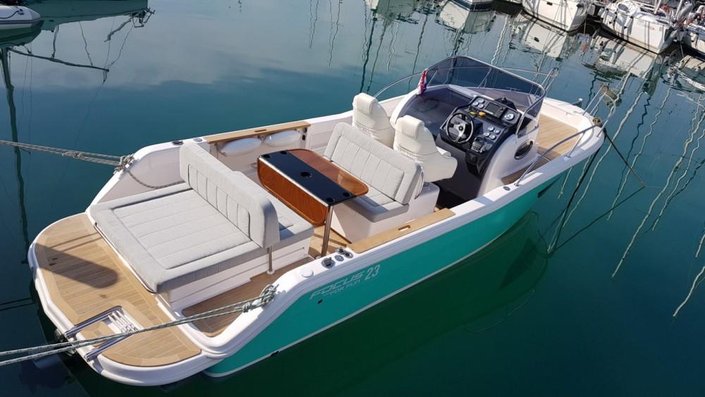 Boat rental Sukošan cheap Focus SunDeck 23