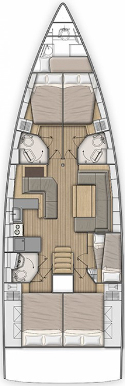 Rental yacht Zadar - Bénéteau Oceanis 51.1 - 5 + 1 cab. on SamBoat