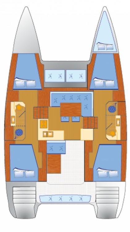 Rental Catamaran in Croatia - Lagoon Lagoon 40 (4 cab)