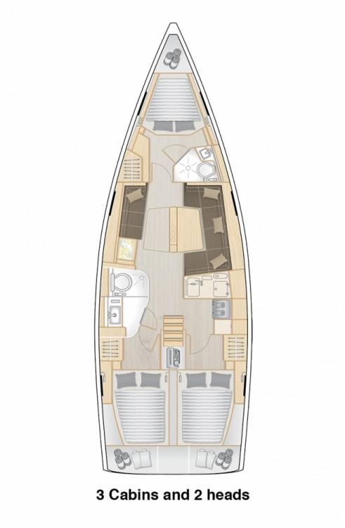 Rental yacht Split - Hanse Hanse 418 - 3 cab. on SamBoat