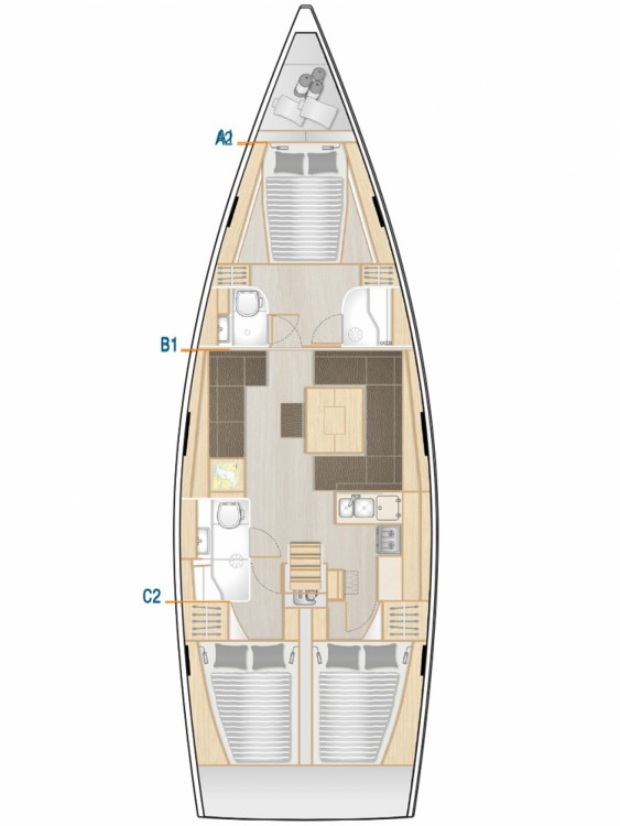 Rental yacht Šibenik - Hanse Hanse 458 - 3 cab. on SamBoat