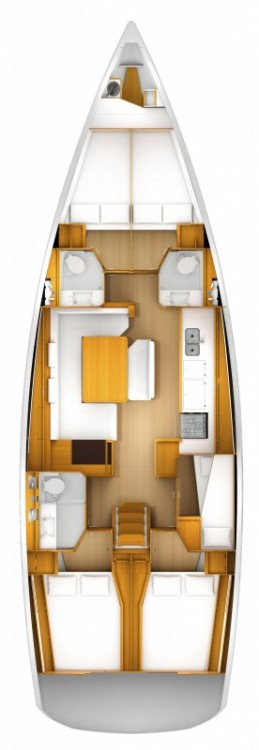 Jeanneau Sun Odyssey 519 - 5 + 1 cab. between personal and professional Kos