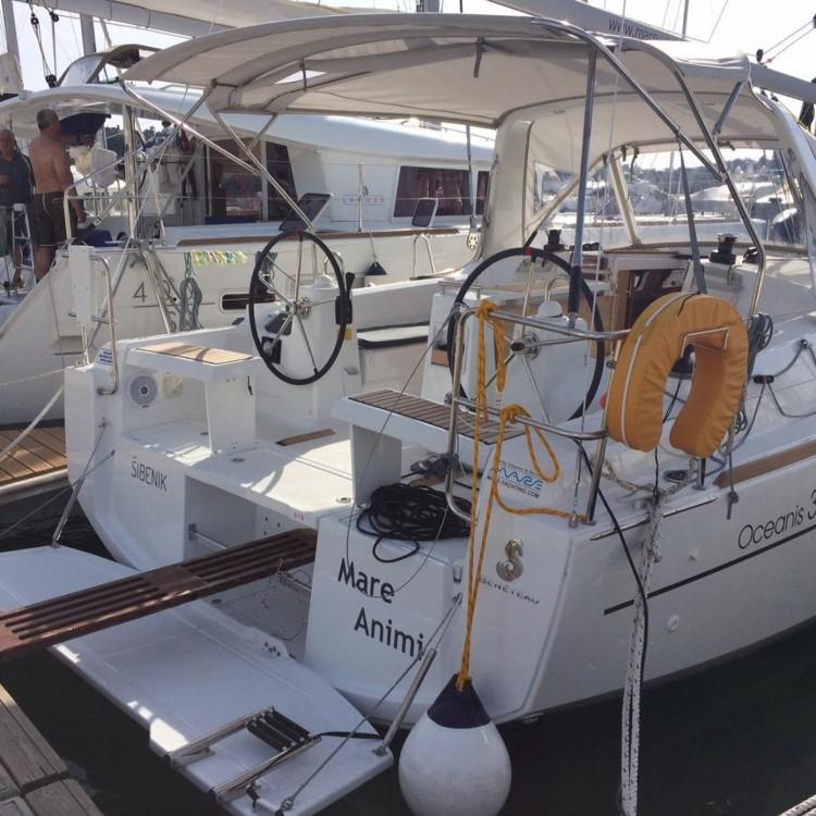 Boat rental Croatia cheap Oceanis 35