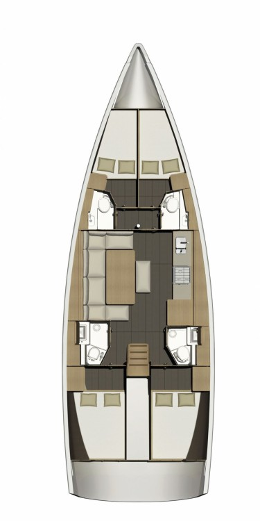 Hire Sailboat with or without skipper Dufour Trogir