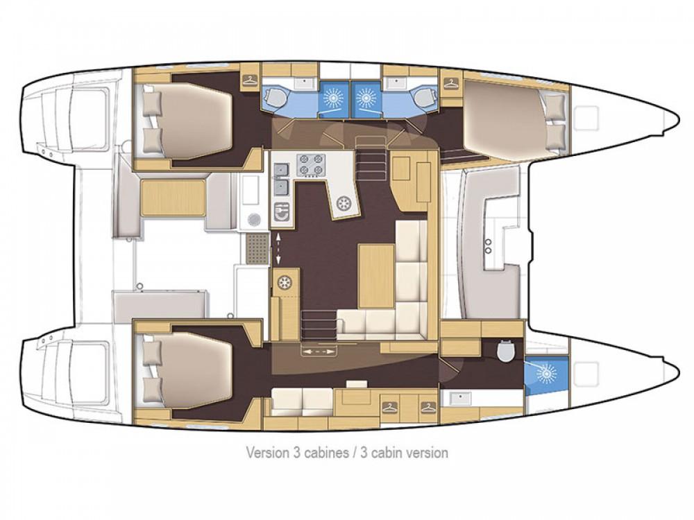 Boat rental Greece cheap Lagoon 450F