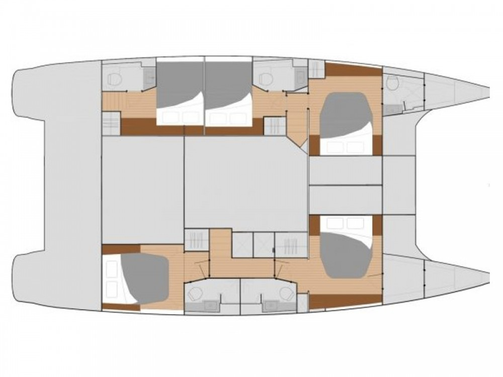 Rent a Fountaine Pajot Saba 50 -  5 cabin version Marina de Alimos