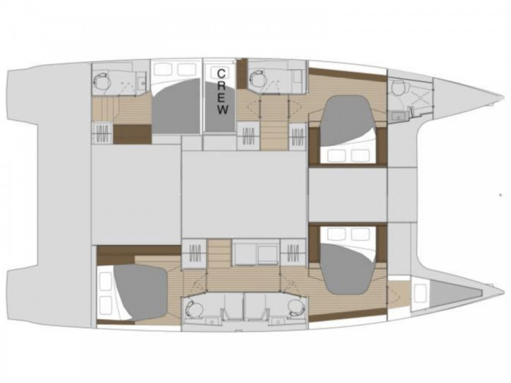 Rental yacht Marina de Alimos - Fountaine Pajot Saona 47 - 5 cabin version on SamBoat