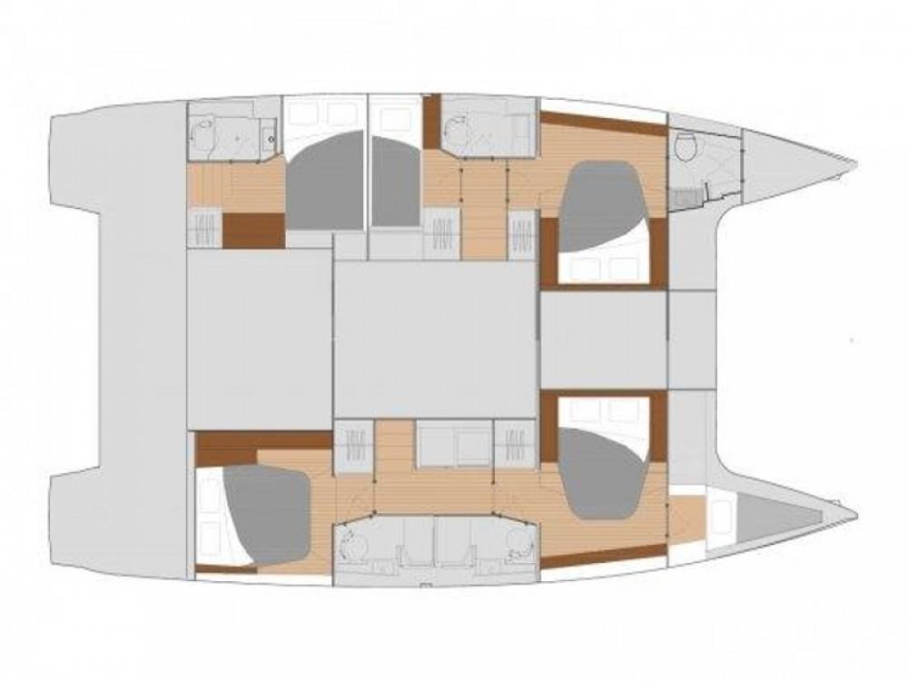 Rental Catamaran in Marina de Alimos - Fountaine Pajot Saona 47 - 5 cabin version