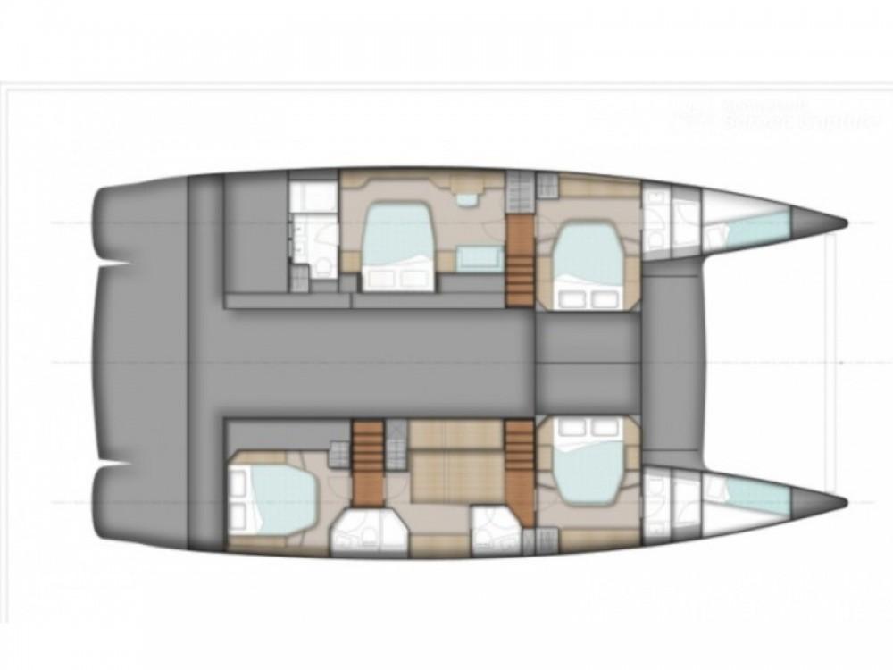 Boat rental Marina de Alimos cheap Sanya 57 - 4 cabin version