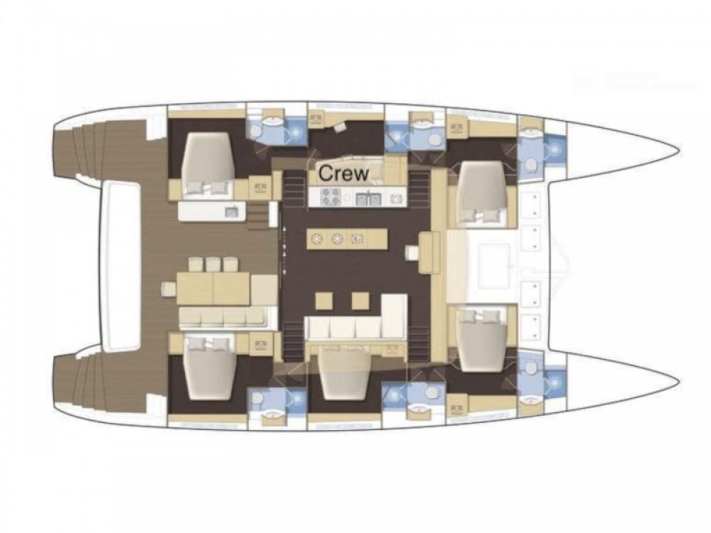 Rental Catamaran in Marina de Alimos - Lagoon Lagoon 62 - 5 cabin version