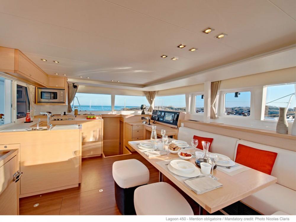 Boat rental Mykonos cheap Lagoon 450F 10 pax