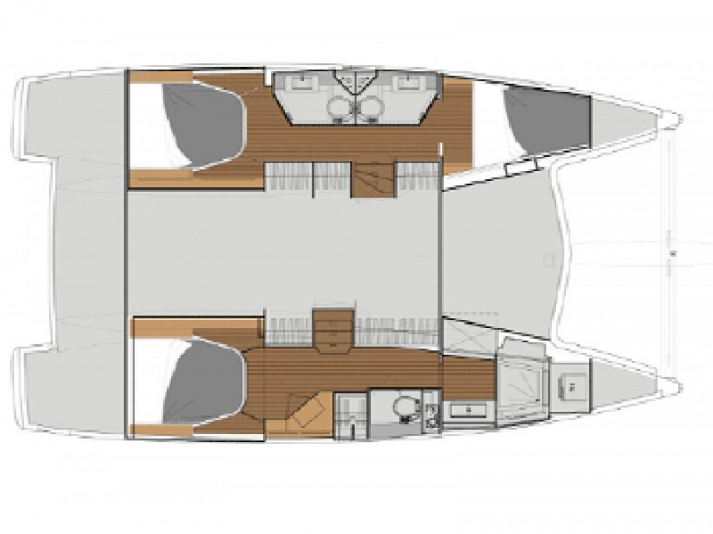 Boat rental Fountaine Pajot Lucia 40 in Greece on Samboat