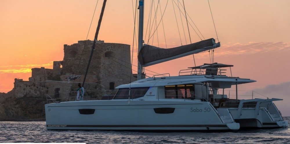 Rental Catamaran in Trogir - Fountaine Pajot Saba 50