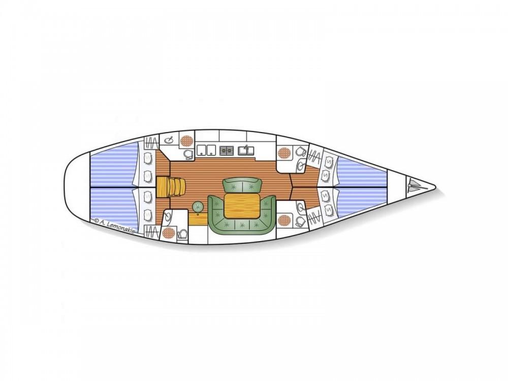Rental yacht Lávrio - Jeanneau Sun Odyssey 49 on SamBoat