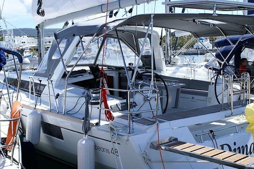 Boat rental Greece cheap Oceanis 48