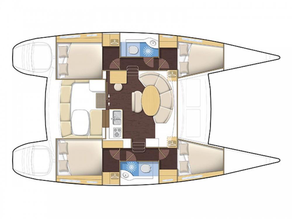 Location bateau Laurion pas cher Lagoon 380