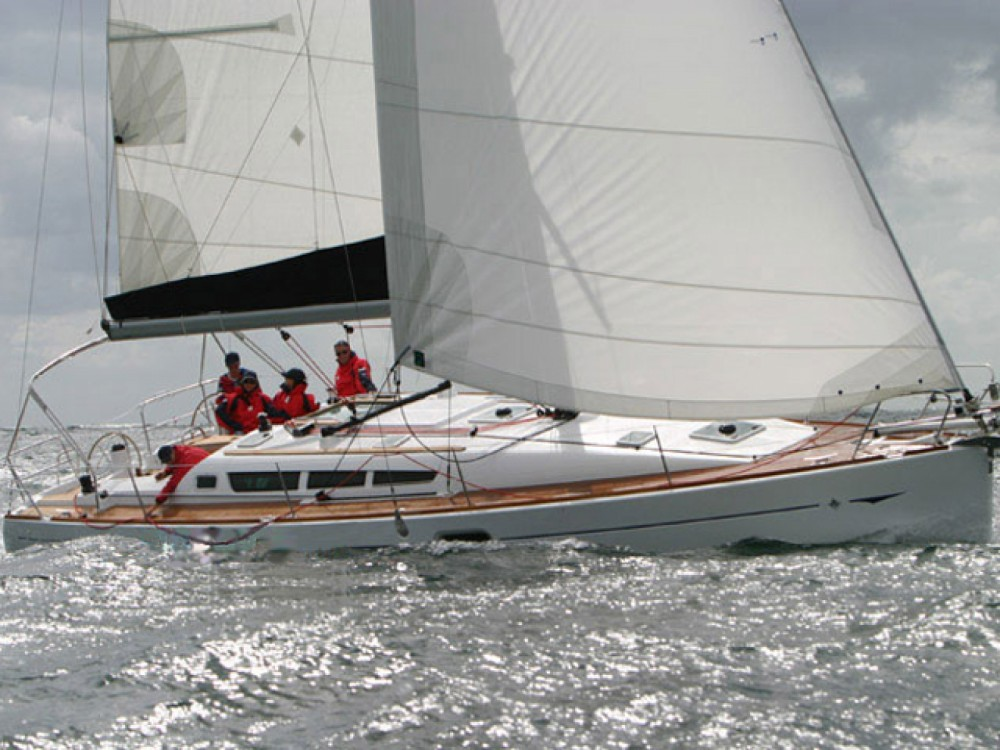 Jeanneau Sun Odyssey 42 i between personal and professional Marina Gouvia