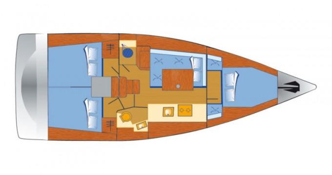 Bénéteau Oceanis 38 zwischen Privatpersonen und professionellem Anbieter Pula