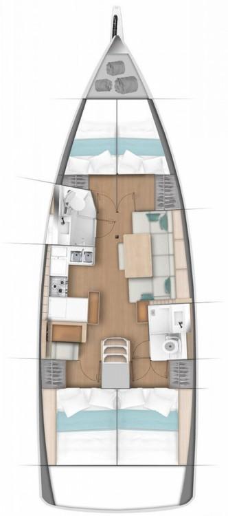 Location bateau Jeanneau Sun Odyssey 440 à Marina - Mali Lošinj sur Samboat