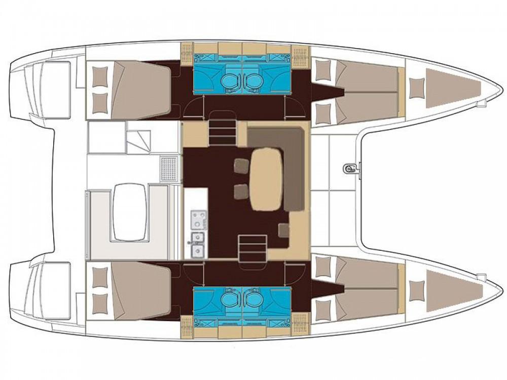 Location bateau Sant Antoni de Portmany pas cher Lagoon 400 S2