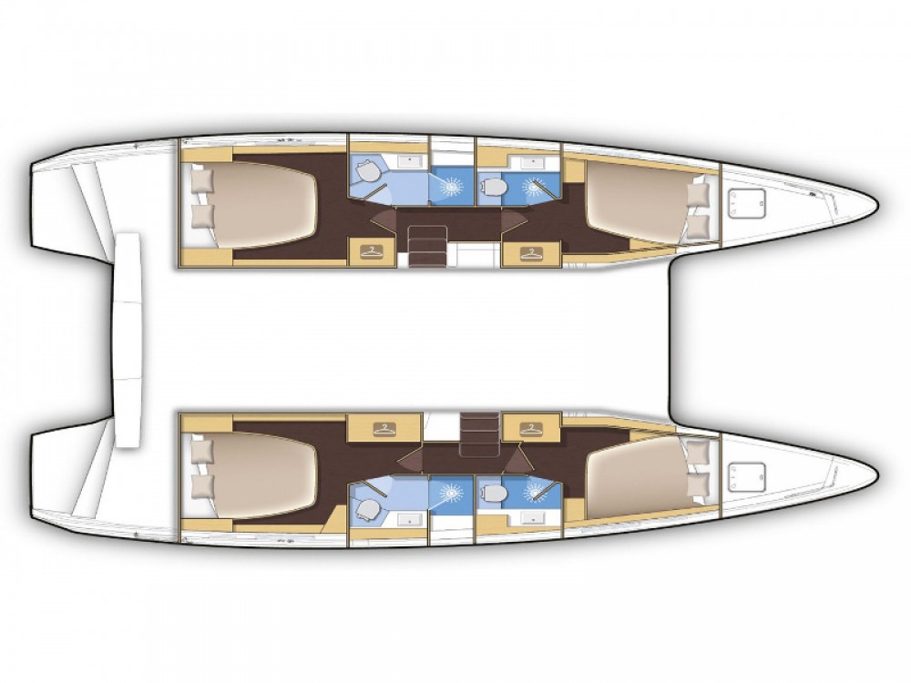 Location Catamaran à Poltu Quatu - Lagoon Lagoon 42