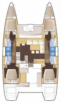 Bootsverleih Lagoon Lagoon 450 S - 4 + 2 cab. Split Samboat
