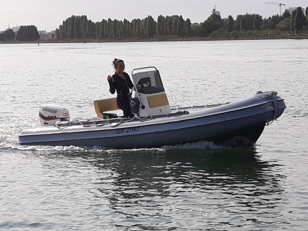 Boat rental Lorient cheap Gommonautica G48C