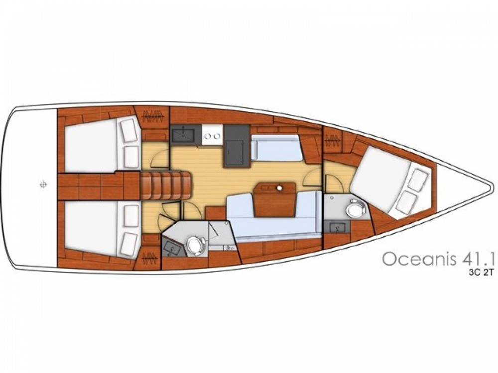 Bootsverleih Bénéteau Oceanis 41.1 Cala dei Sardi Samboat