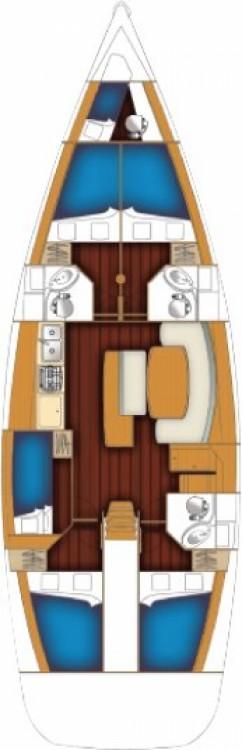 Jachthuur in Terranoa/Olbia - Bénéteau Cyclades 50.5 - 5 + 1 cab. via SamBoat
