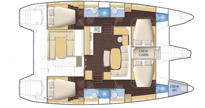 Rental yacht Central Greece - Lagoon Lagoon 421 - 4 + 1 cab. on SamBoat