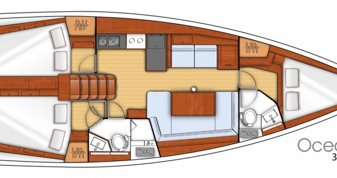 Rental yacht Corfu - Bénéteau Oceanis 41 on SamBoat