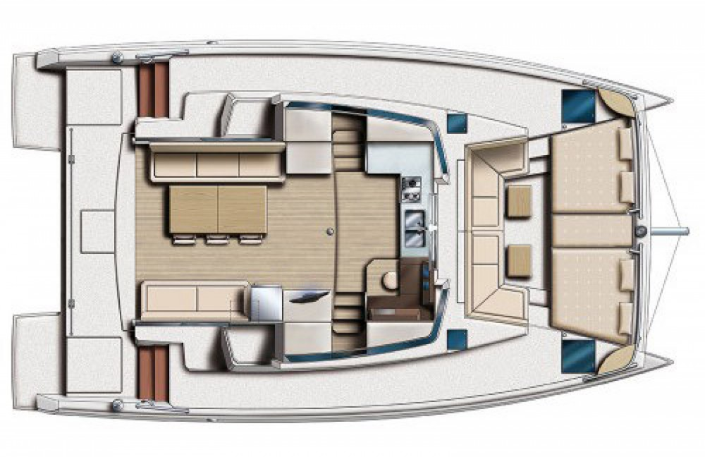 Verhuur Catamaran Bali Catamarans met vaarbewijs