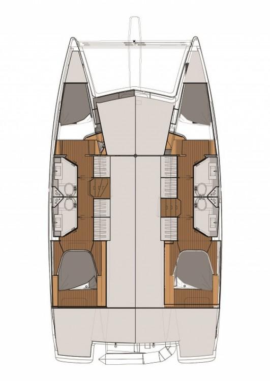 Location Catamaran à Marmaris Yacht Marina A.Ş - Fountaine Pajot Fountaine Pajot Lucia 40