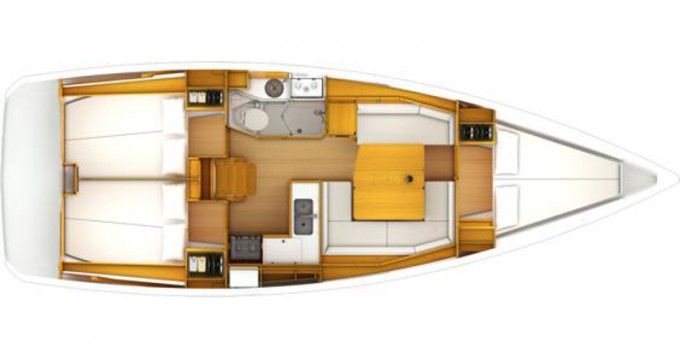 Jeanneau Sun Odyssey 389 between personal and professional Pula