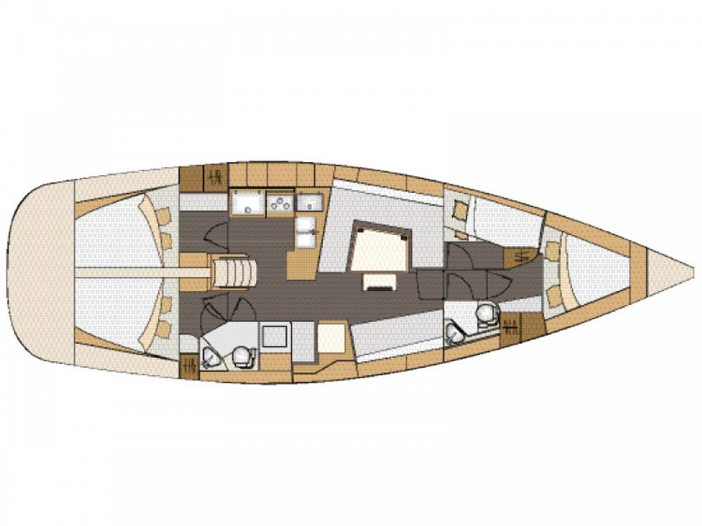 Noleggio barche Marina Kornati economico Elan 45 Impression