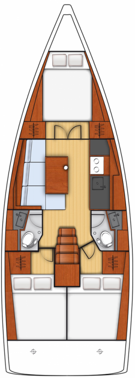 Location yacht à Marina Kornati - Bénéteau Oceanis 38.1 sur SamBoat