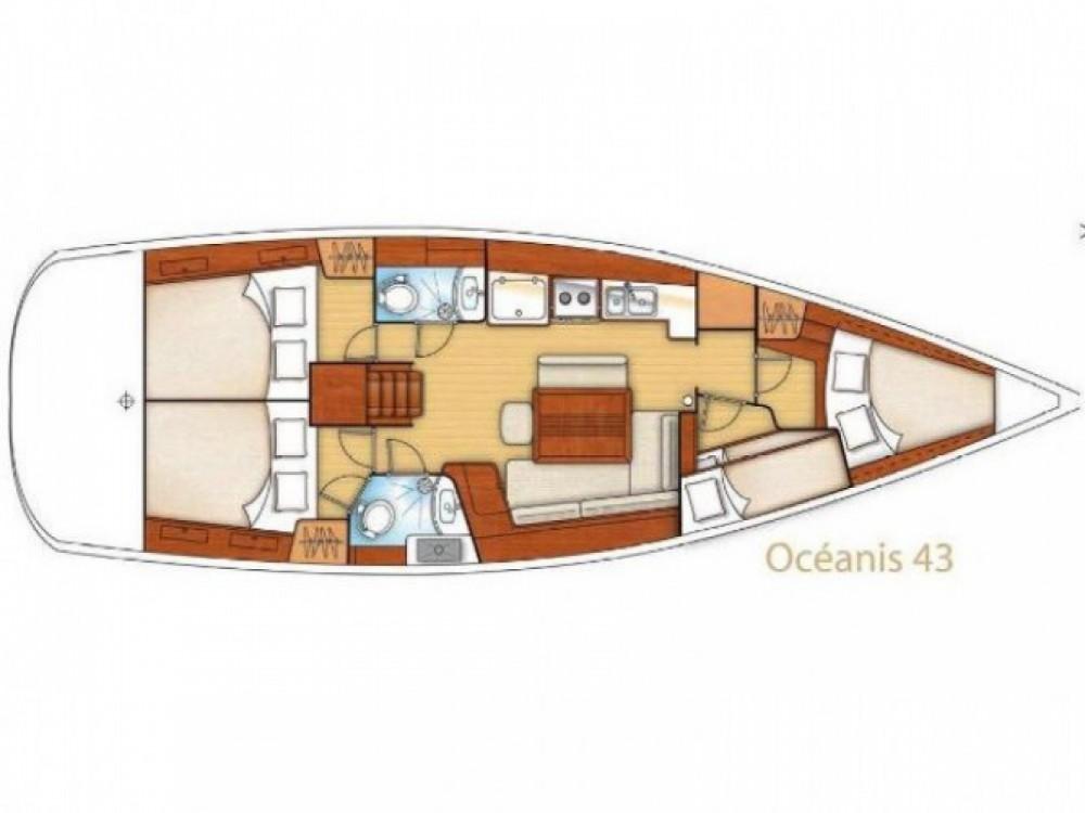 Location bateau Marina de Alimos pas cher Oceanis 43