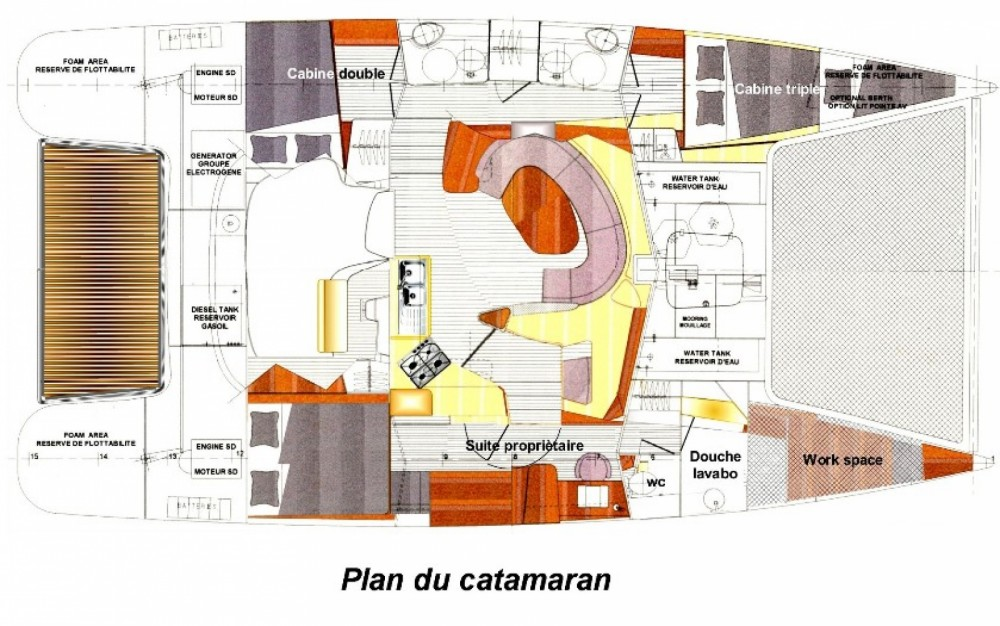 Location Catamaran à Le Marin - Fountaine Pajot Bahia 46