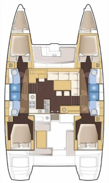Bootsverleih Mesolongi günstig Lagoon 450 - 4 + 2 cab.