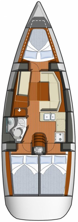 Jeanneau Sun Odyssey 36i between personal and professional Volos