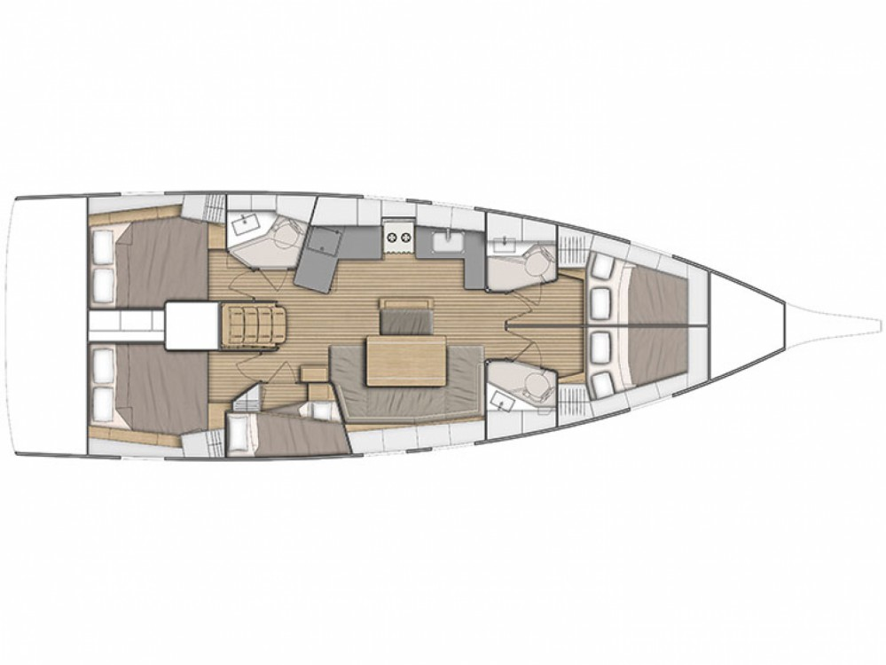 Rental yacht Μαρίνα Αλίμου - Bénéteau Oceanis 46.1 on SamBoat
