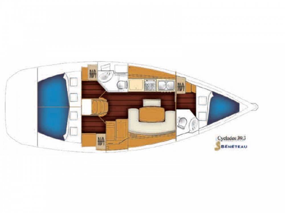 Louez un Bénéteau Cyclades 39.3 à Nea Moudania