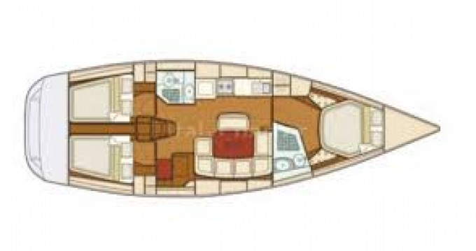 Location bateau Carloforte pas cher Grand Soleil 43