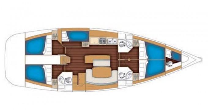 Location bateau Lávrio pas cher Cyclades 50.5