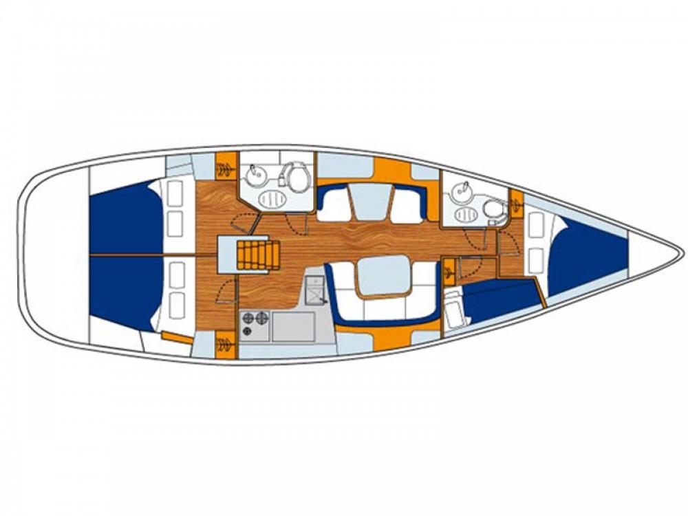 Location yacht à Vatopedi - Jeanneau Sun Odyssey 43 sur SamBoat