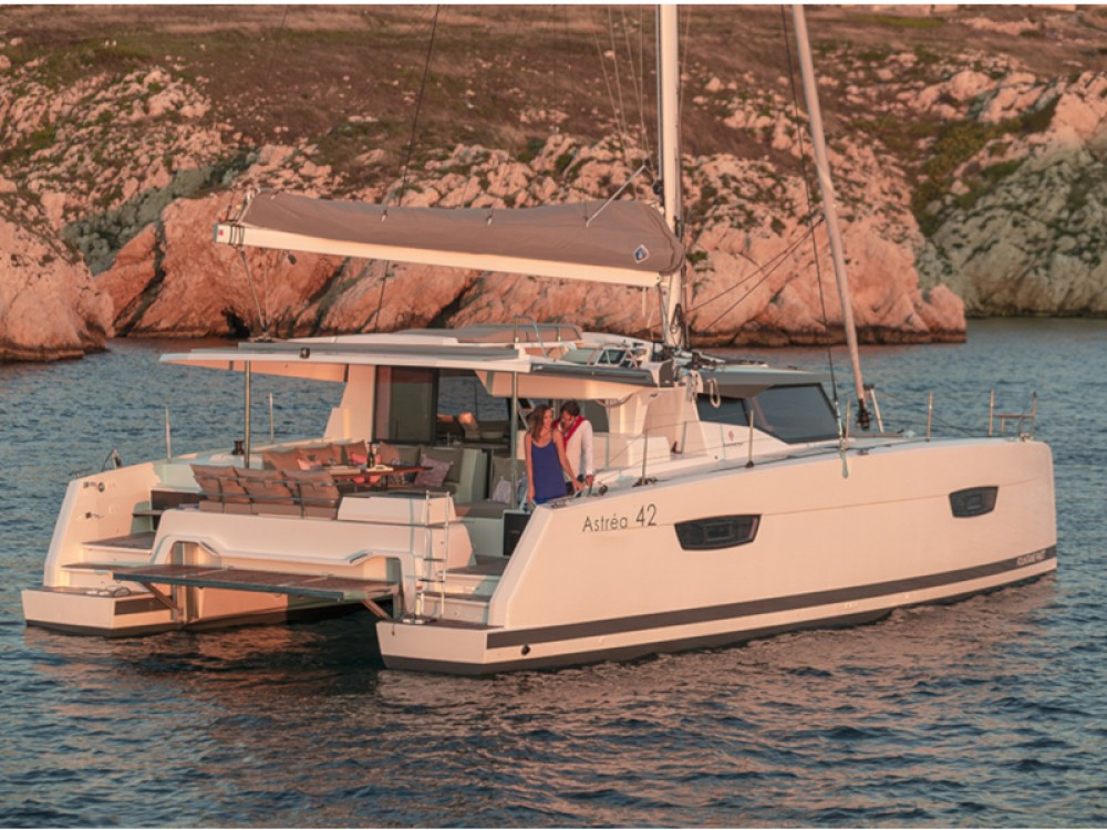 Fountaine Pajot Astrea 42 between personal and professional Capo d'Orlando Marina