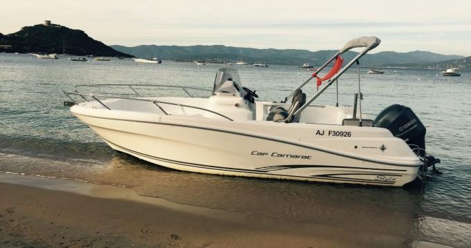 Location bateau Jeanneau Cap Camarat 6.5 CC Style à Belvédère-Campomoro sur Samboat